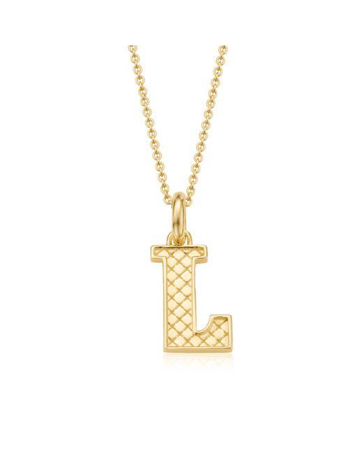 Monica Vinader | Metallic Alphabet Pendant L | Lyst
