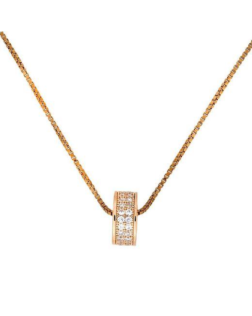 Azendi | Metallic Rose Vermeil Pavé Slider Pendant | Lyst