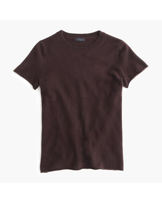 J.Crew | Brown Italian Cashmere Short-sleeve T-shirt | Lyst