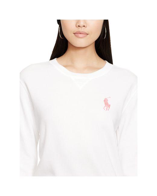 Pink Pony | White Pink Pony Crewneck Sweatshirt | Lyst