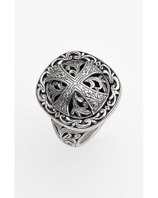 Konstantino | Metallic 'classics' Cross Dome Ring for Men | Lyst