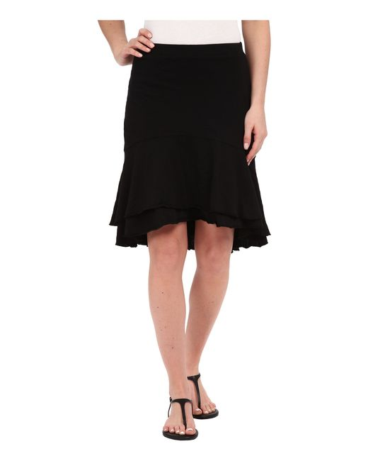 mod o doc slub jersey tiered high low skirt in