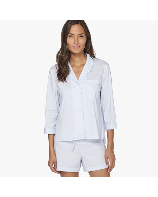 James Perse | Blue Laundered Cotton Night Shirt | Lyst