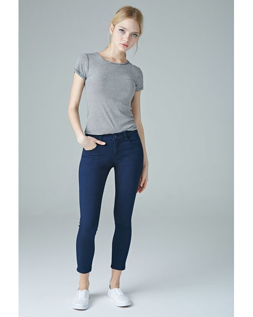 Forever 21 | Blue The Beverly Low Rise Jean | Lyst