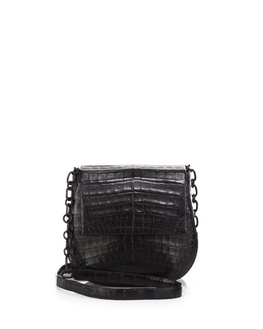 Nancy Gonzalez | Black Round Crocodile Crossbody Bag | Lyst