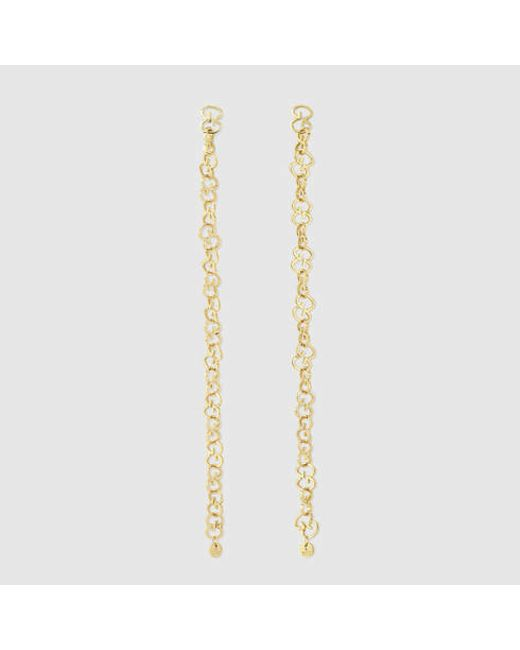Gucci | Icon Earrings In Yellow Gold | Lyst