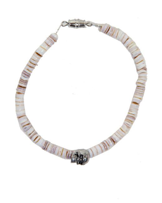 Duchess Of Malfi | White Conus Shell Bracelet With Skull | Lyst