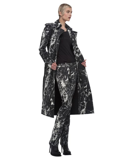 Norma Kamali | Black Double Breasted Wrap Trench | Lyst