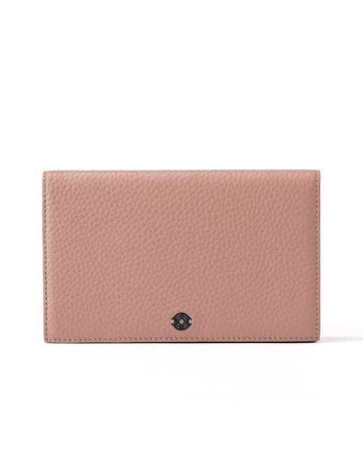 Dagne Dover Pink Accordion Travel Wallet In Warm Dust