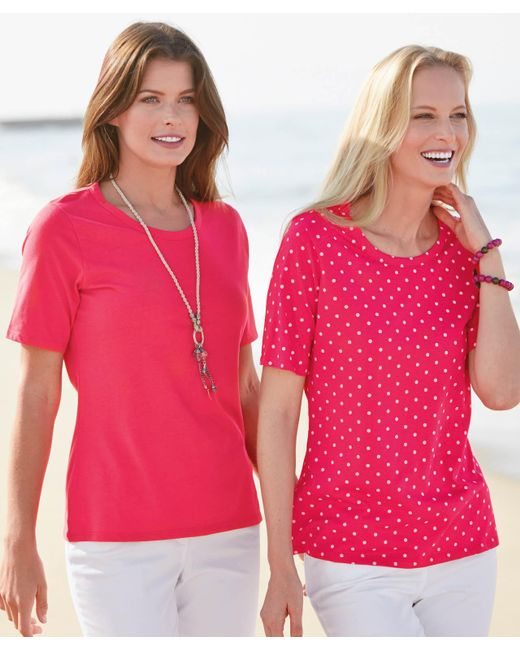 DAMART - Red Pack Of 2 Tops - Lyst