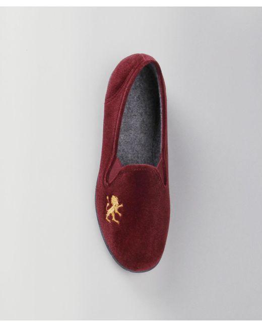 DAMART - Red Velour Slippers for Men - Lyst