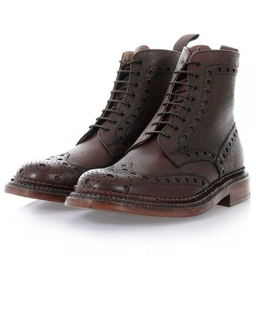 Grenson | Fred The Triple Welt Brown Brogue Boot 5068G-425 for Men | Lyst