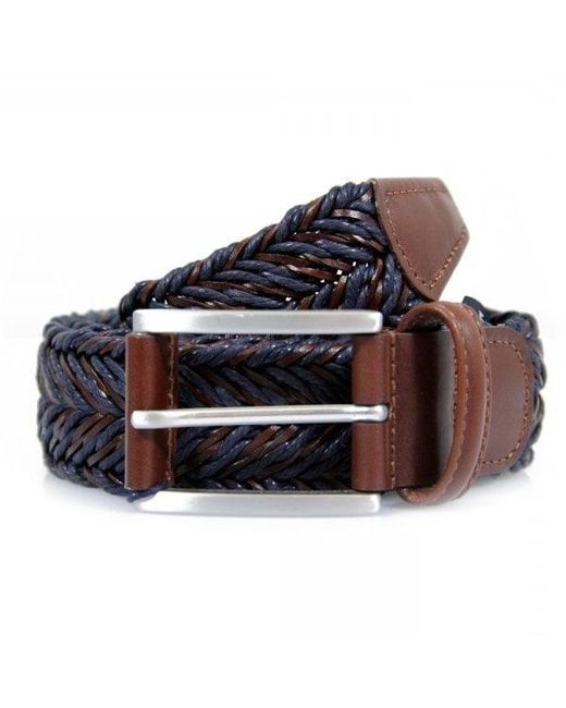 Andersons   Blue Anderson's Braided Twine Deep Navy Brown Belt for Men   Lyst