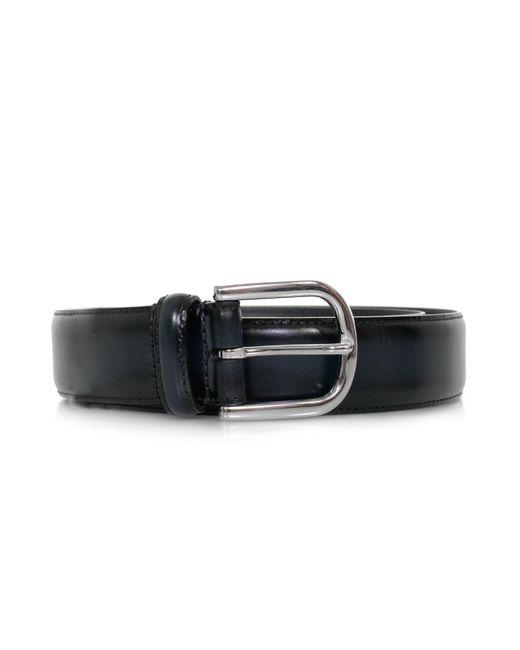 Andersons - Blue Anderson Polished Navy Leather Belt Af3580 for Men - Lyst