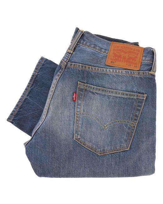 Levi's Blue 511 Slim Fit Selvedge Jeans for men