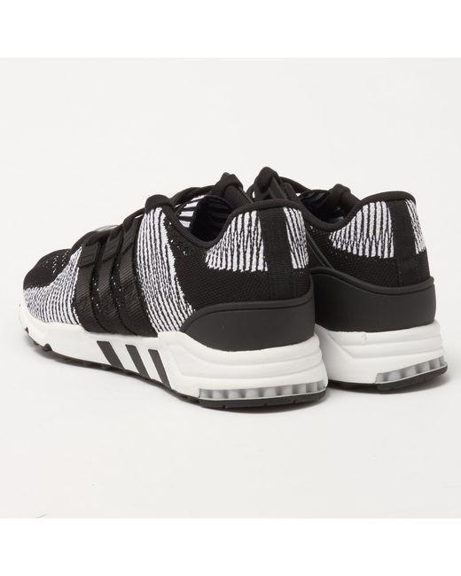 hot sales 6bf45 0570f ... Adidas Originals - Black Eqt Support Rf Primeknit for Men - Lyst ...