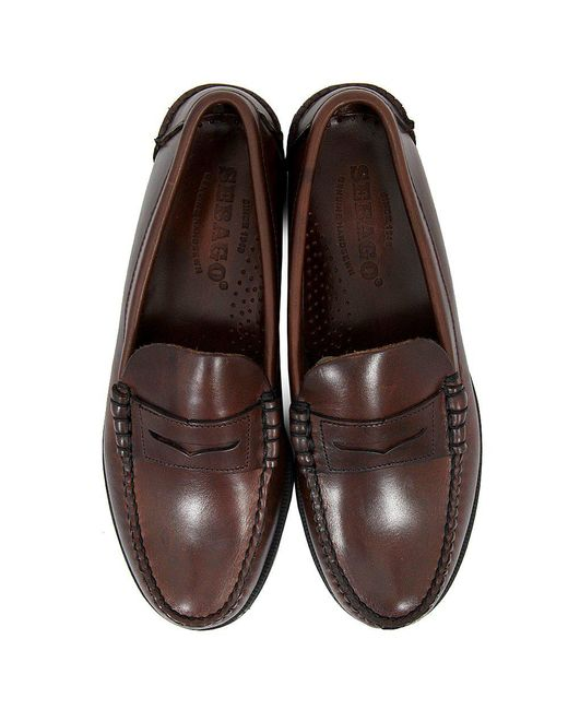 605673d6f2 ... Sebago - Classic Beef-Roll Penny Moc Brown Shoes B76643 for Men - Lyst  ...