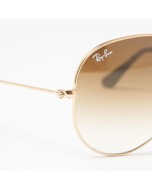 5cc089085a ... Ray-Ban - Aviator Gradient Sunglasses - Light Brown Gradient Lenses -  Lyst ...