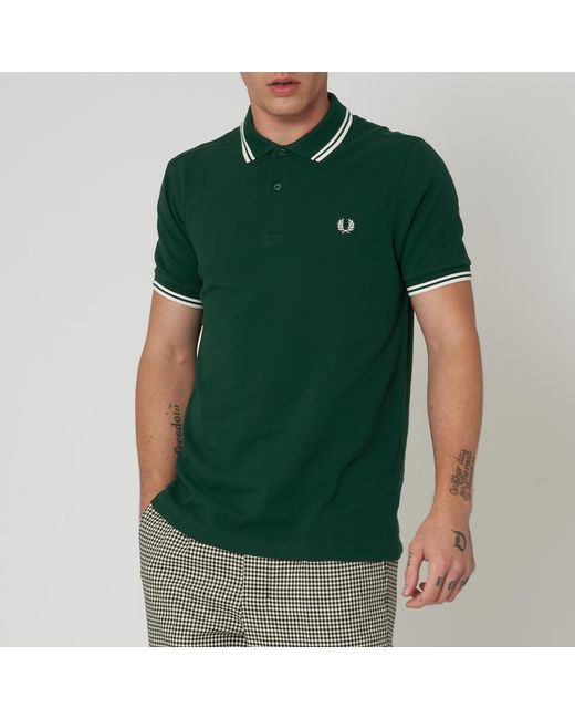 8907cd55b Fred Perry Authentic - Green Fred Perry Twin Tipped Ivy Polo Shirt M3600  406 for Men ...
