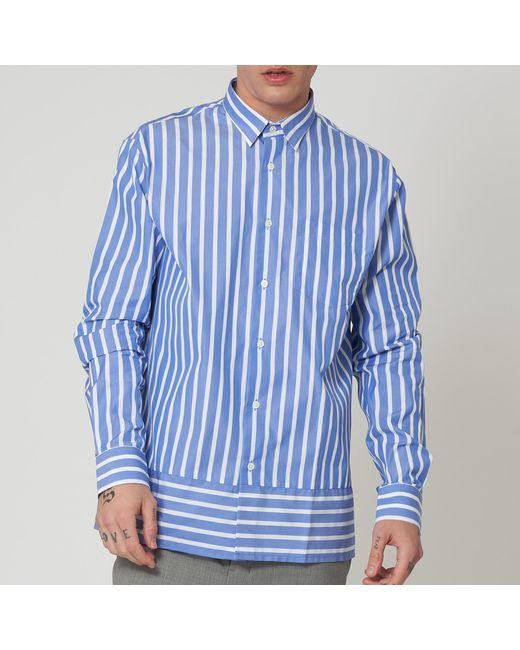AMI - Blue Summer Fit Shirt for Men - Lyst