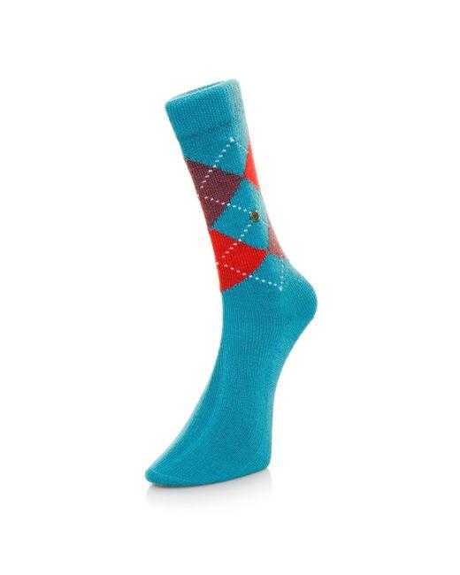 Burlington - Burlington Preston Argyle Sea Blue Socks 24284730S for Men - Lyst