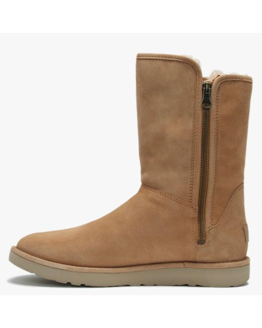 80fb917f95a UGG Abree Short Ii Toast Suede Ankle Boots in Brown - Lyst