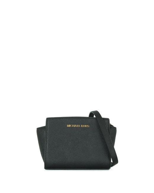 Michael Kors | Mini Selma Black Messenger Crossbody Bag | Lyst