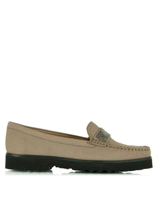 Daniel | Multicolor Genuine Taupe Suede Diamante Embellished Loafer | Lyst
