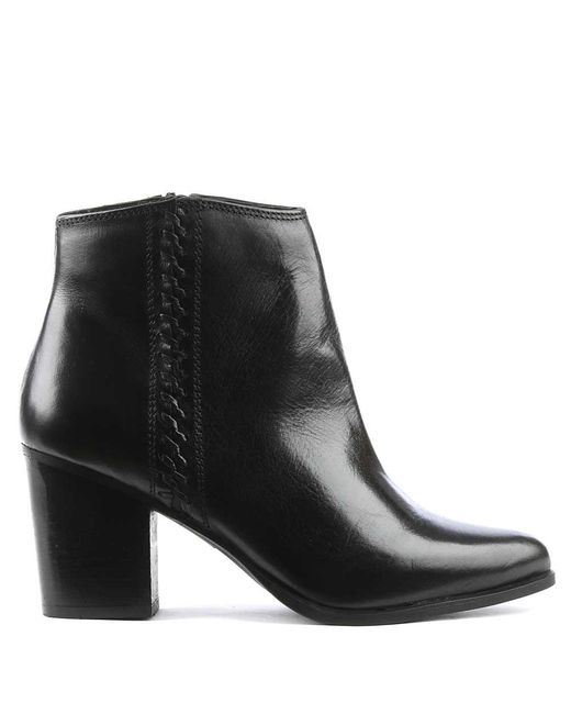 Daniel   Victorina Black Leather Pointed Toe Ankle Boot   Lyst
