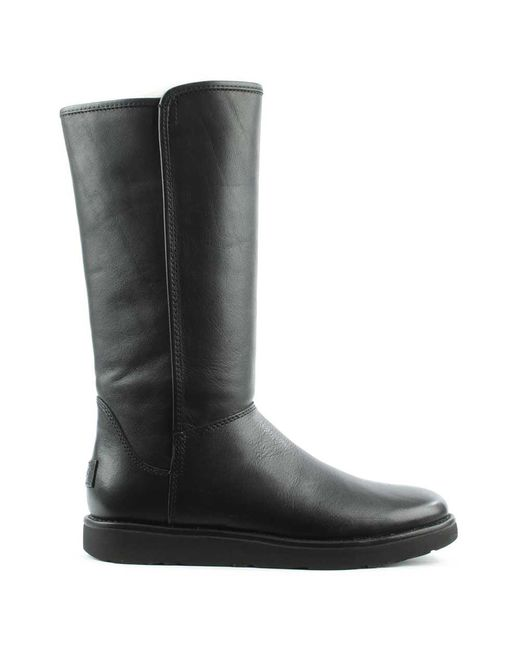 Ugg | Black Abree Nero Leather Twinfaced Calf Boot | Lyst