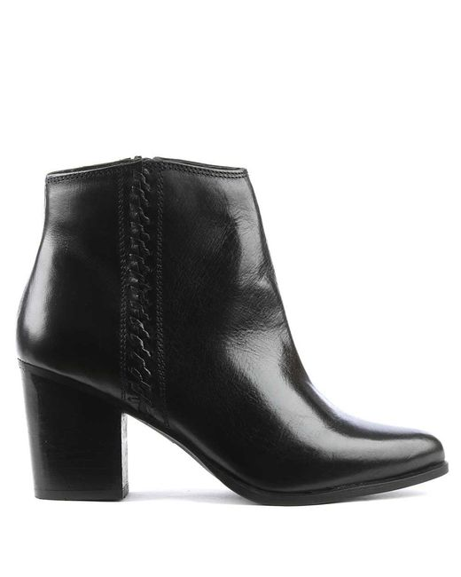 Daniel | Victorina Black Leather Pointed Toe Ankle Boot | Lyst