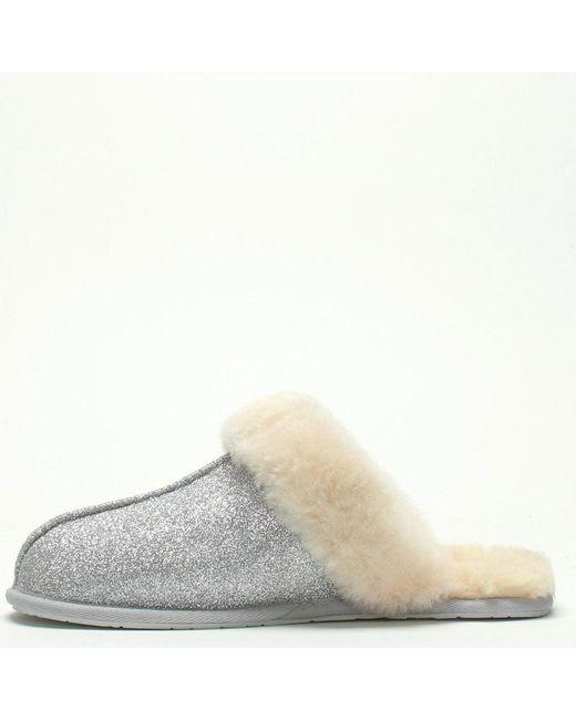 a7ebc2a75 ... Lyst Ugg - Metallic Women's Scuffette Ii Sparkle Silver Slippers ...