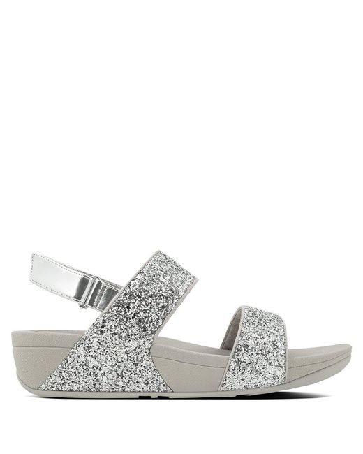 Fitflop | Metallic Glitterball Silver Ankle Strap Sandals | Lyst