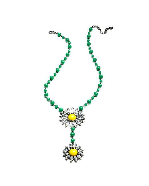 DANNIJO | Green Helena Necklace | Lyst