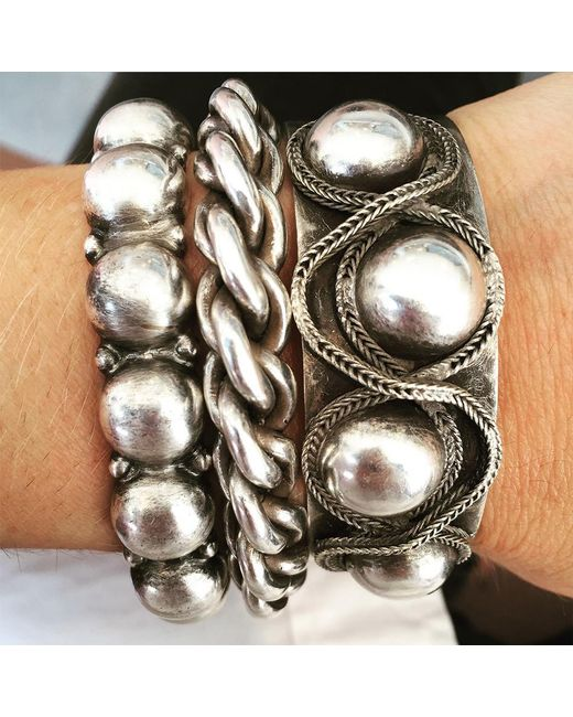 DANNIJO - Metallic Ball & Chain Arm Party - Lyst