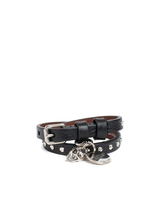 Alexander McQueen - Multicolor Leather Bracelet With Studs - Lyst