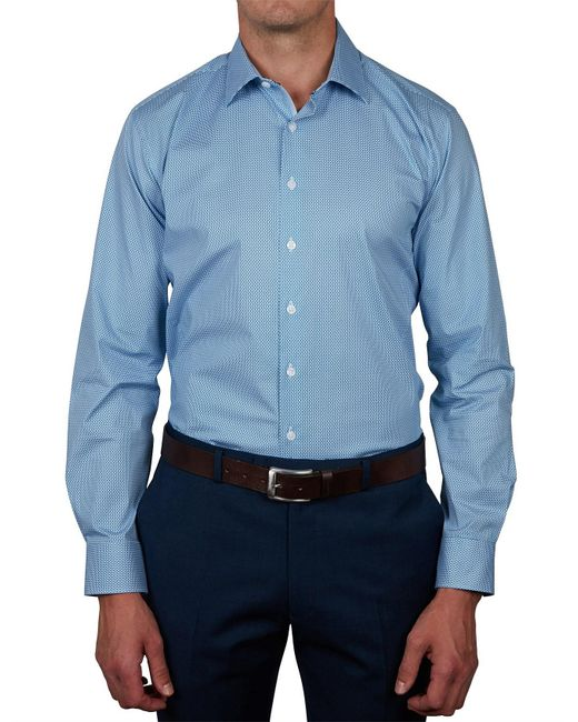 Geoffrey Beene - Blue Appalacian Stretch Print Body Fit Shirt for Men - Lyst