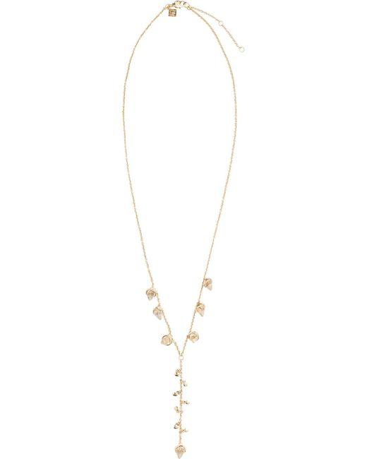Rebecca Minkoff | Metallic Acorn Crystal Dainty Y Necklace | Lyst