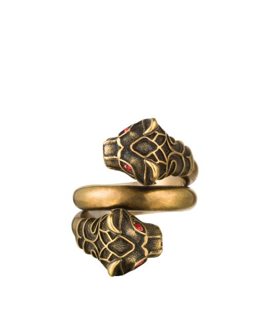 Gucci | Metallic Tiger Head Ring | Lyst