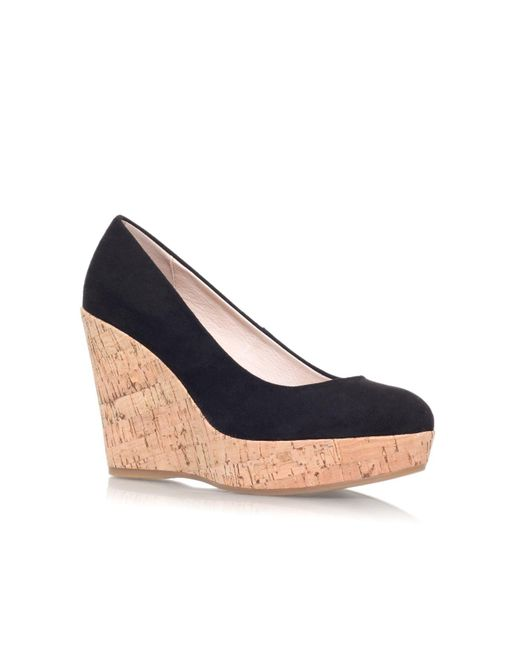 Carvela Kurt Geiger | Black Attend Wedge Heeled Court Shoes | Lyst