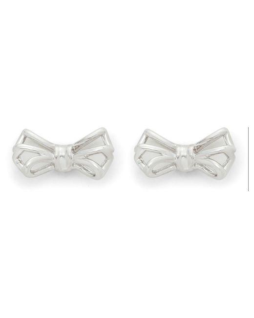 Ted Baker | Metallic Gleda: Tiny Geometric Bow Earring | Lyst