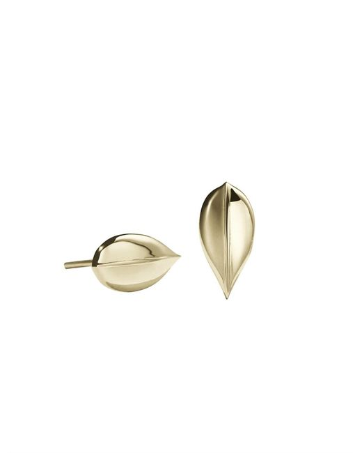 Meadowlark - Metallic Leaf Stud Earrings Large - Lyst