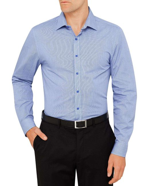 Ben Sherman | Blue Micro Check Kings Formal Shirt for Men | Lyst