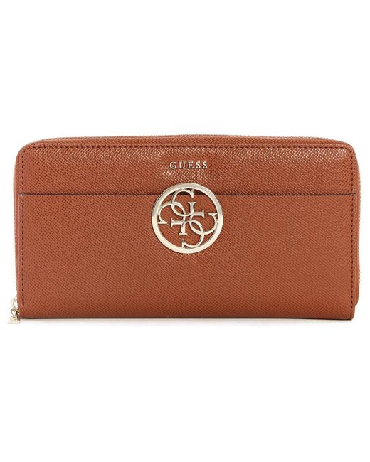 Guess - Brown Kamryn Cheque Organizer - Lyst