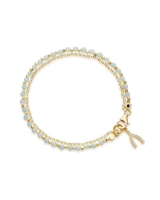 Astley Clarke | Metallic Small Amazonite Wishbone Biography Bracelet | Lyst