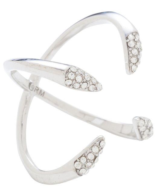 Rebecca Minkoff | Metallic Ring Ir Cryst Claw Lorhg | Lyst