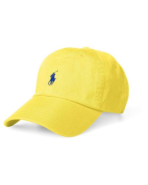 Polo Ralph Lauren   Yellow Cotton Chino Sport Cap for Men   Lyst
