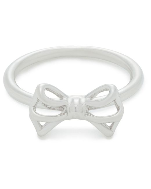 Ted Baker   Metallic Ginniee: Tiny Geometric Bow Ring Ml   Lyst