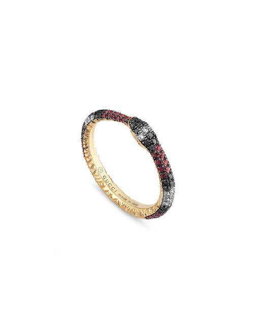 Gucci - Metallic Ouroboros Ring - Lyst