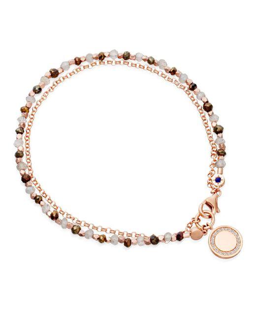 Astley Clarke   Gray Cosmos Friendship Bracelet With Labradorite & Spinel   Lyst